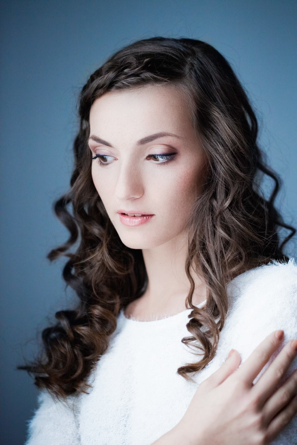 hairdos for curly hair small braid dark brown hair