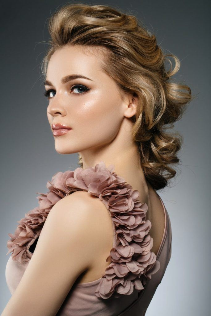 hairdos for curly hair teased ponytail