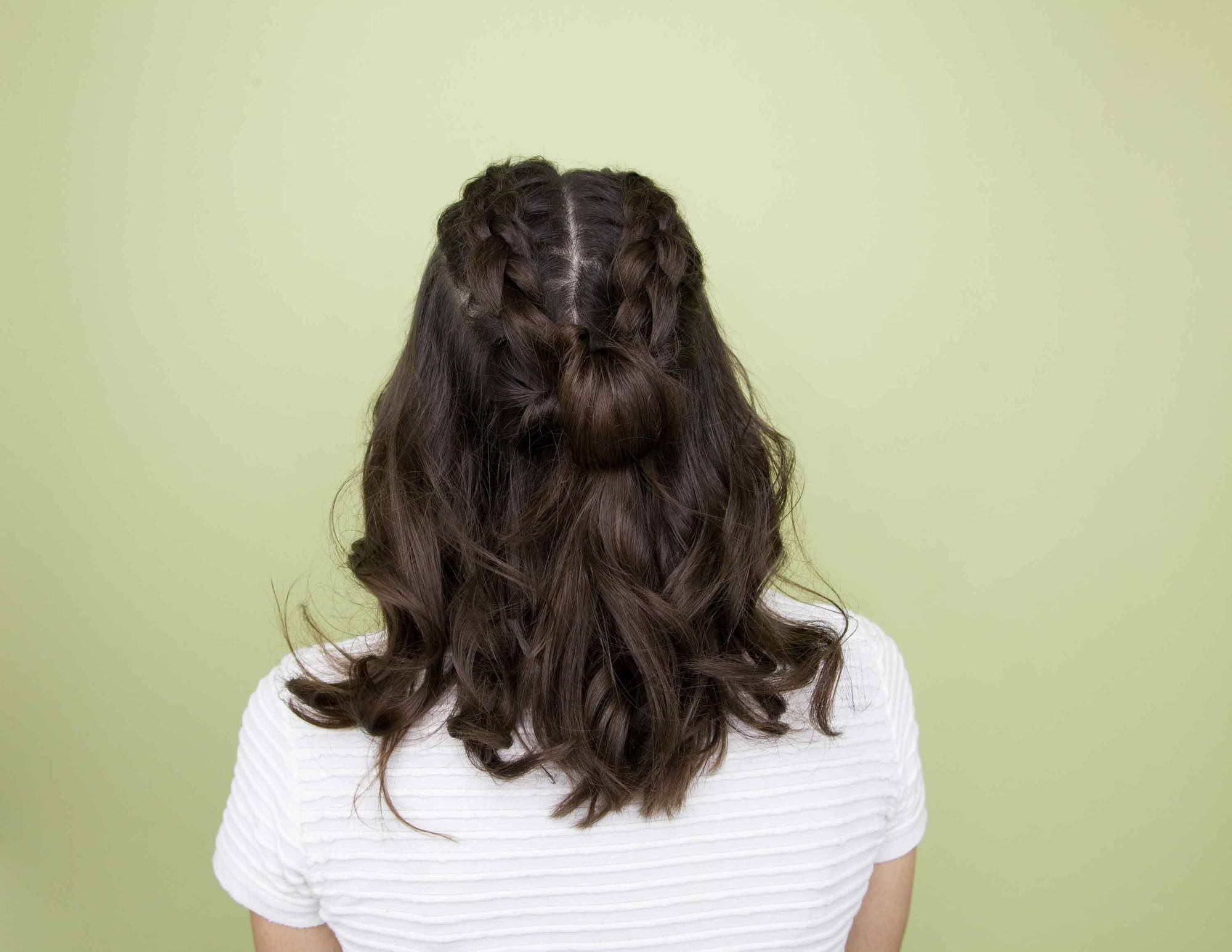 dutch pigtails with bump half braided hairstyles