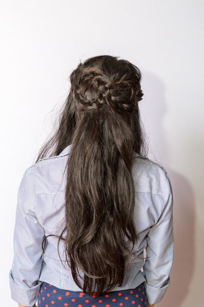 infinity braid half braided hairstyles