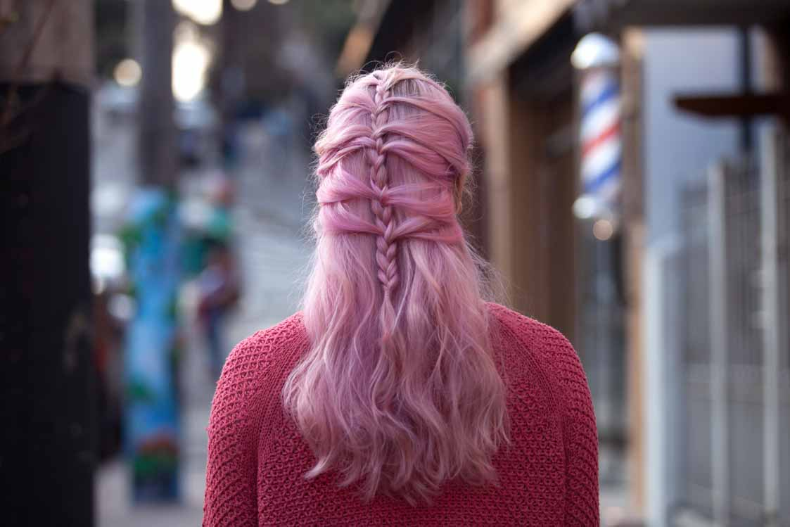 mermaid braid half braided hairstyles
