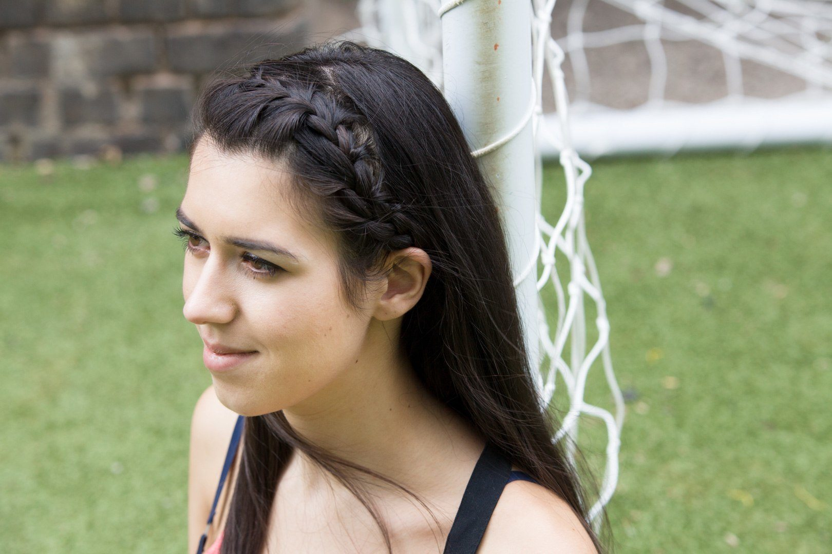 side french half braided hairstyles