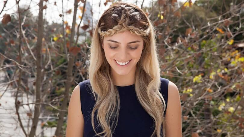 split crown half braided hairstyles