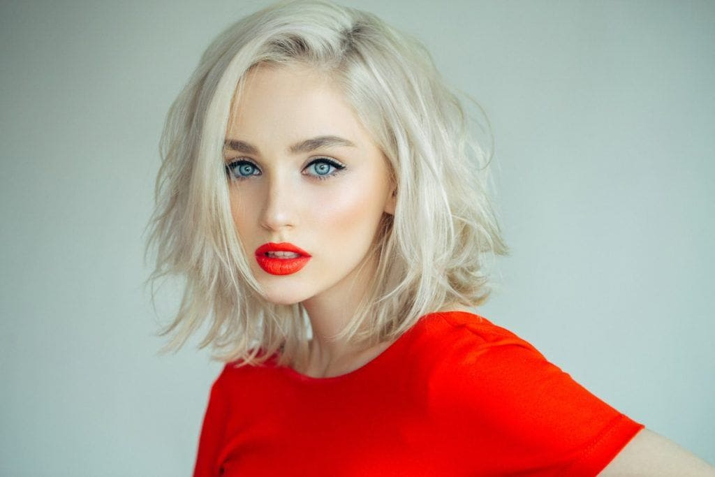 light blonde hair bleach blonde bob