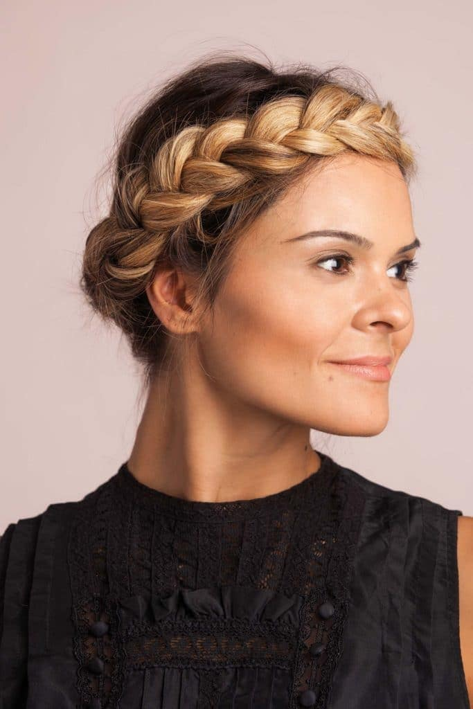 crown braid wedding updos for long hair