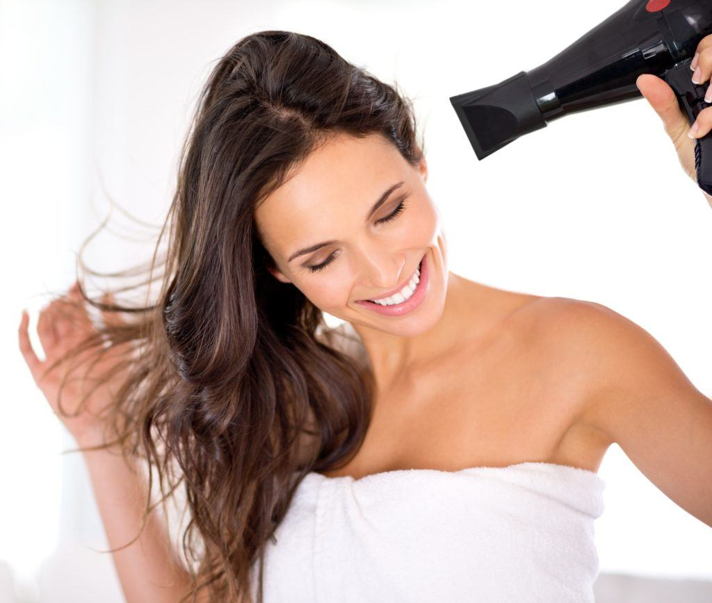 best hair dryer for thick hair blow drying brunette