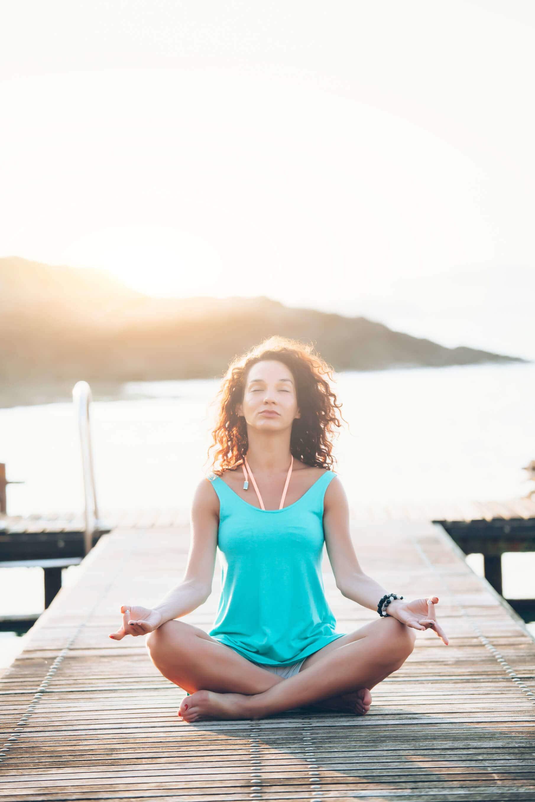 easy hairstyles yoga