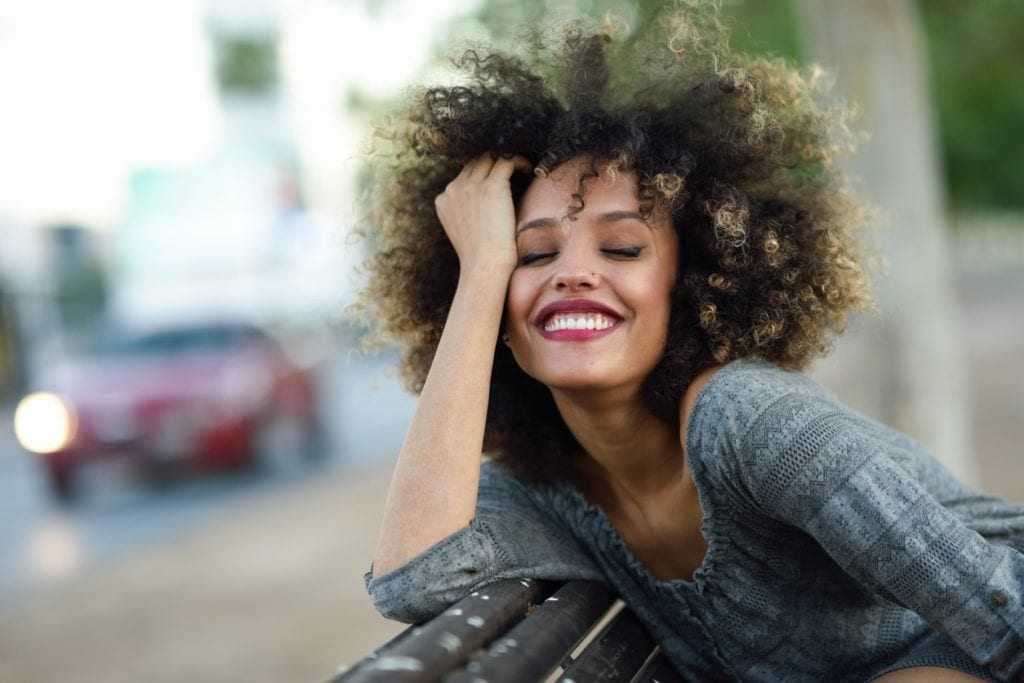 hair color for black women: dyed ends