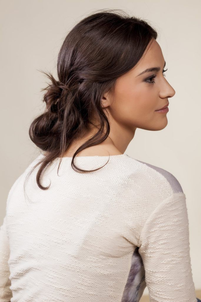 hairdos for curly hair messy low updo