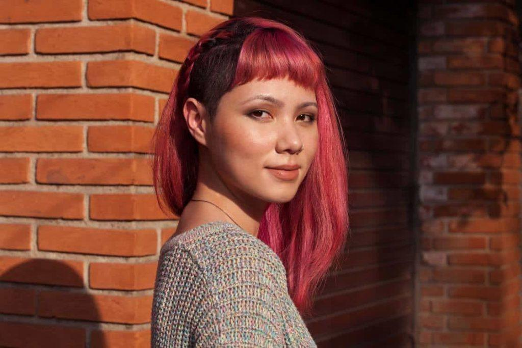 micro bangs for round face shape
