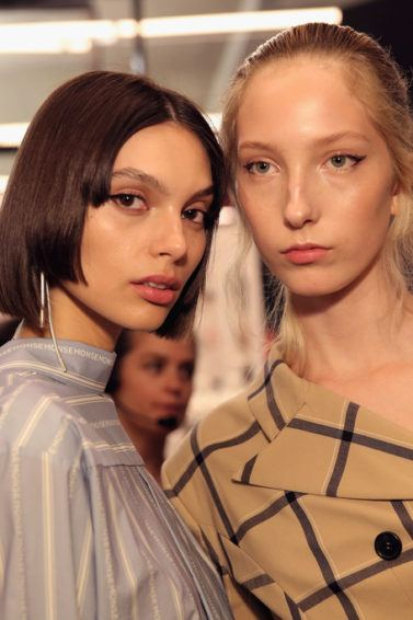 stand out in a crowd hairstyle from NYFW