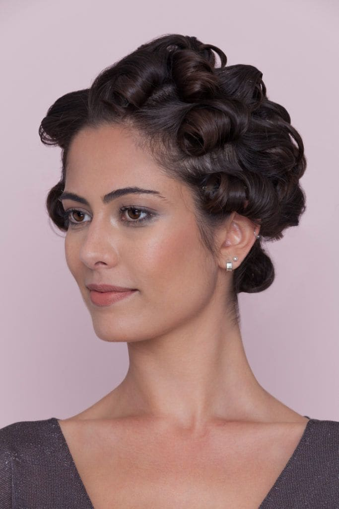 tight pin curls 1920s hairstyles