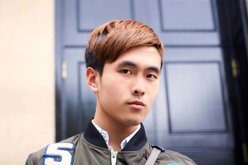 brown hair asian men hairstyles