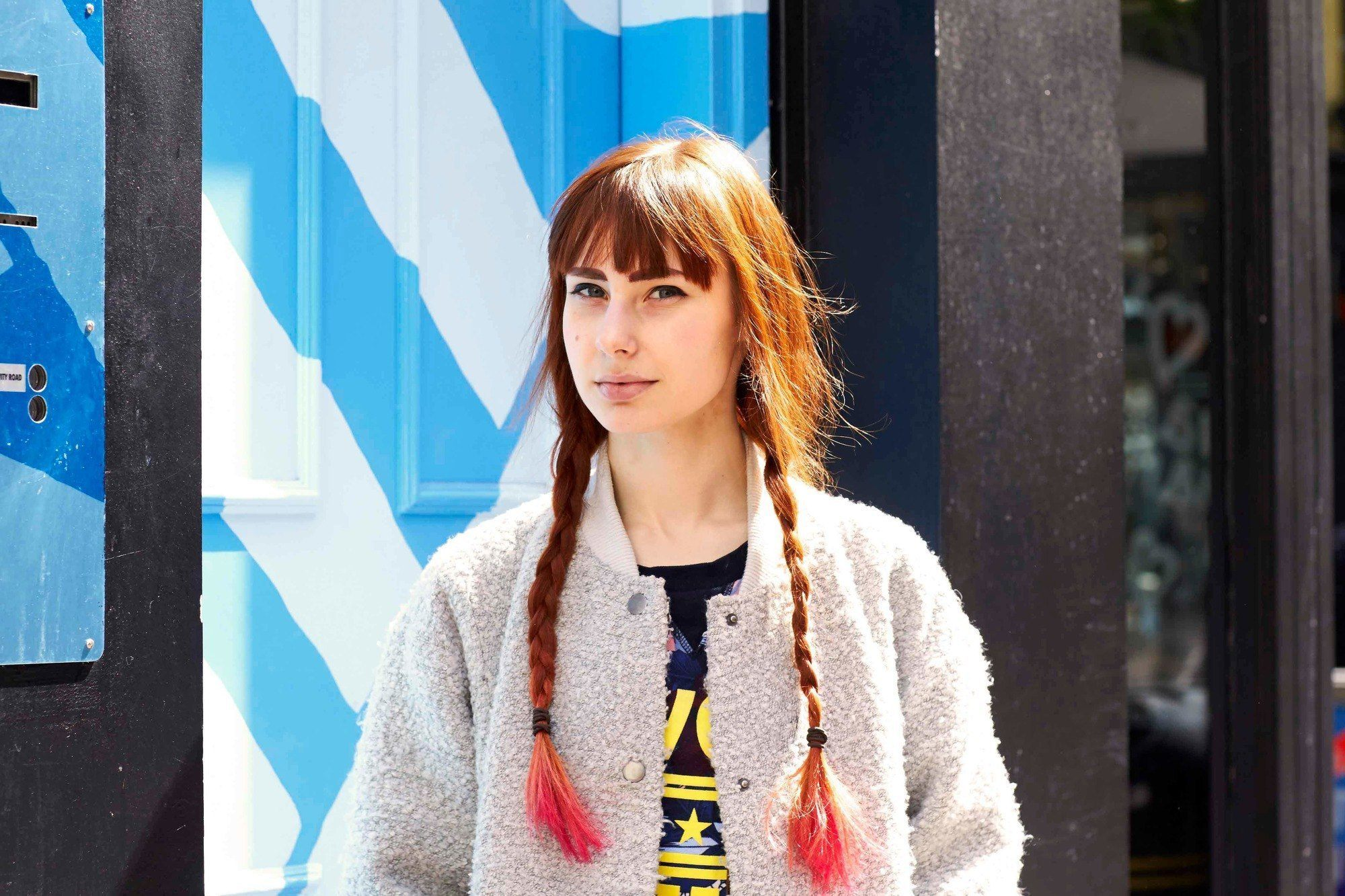 easy braids for long hair three strand pigtails