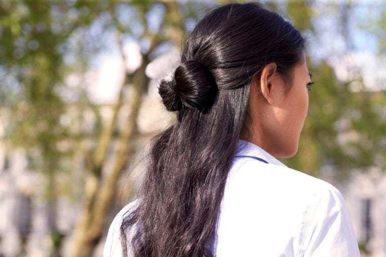easy hairstyles half up hair