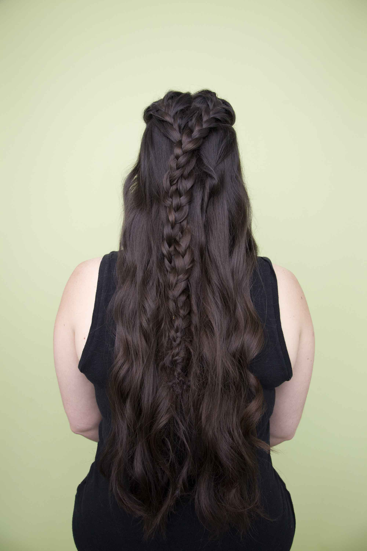 easy hairstyles half braided