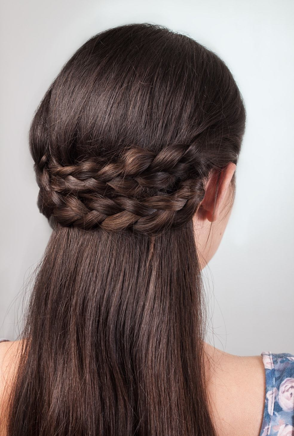 flower girl hairstyles braided half updo