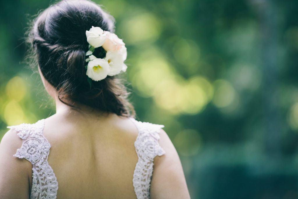 flower girl hairstyles twist half up flowers