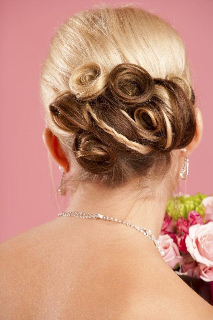 pin-curled petals flower hairstyles