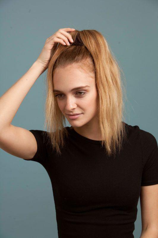 hair donut bun separate your hair