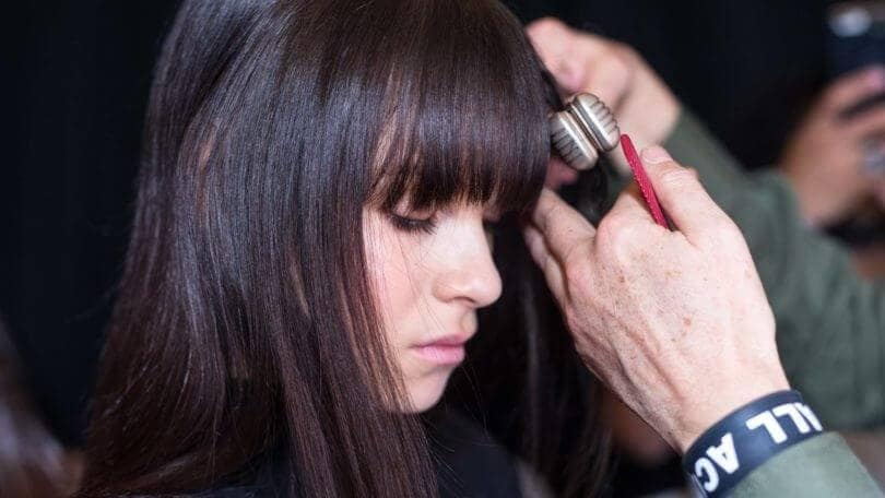 hair straightening products to achieve straight bangs