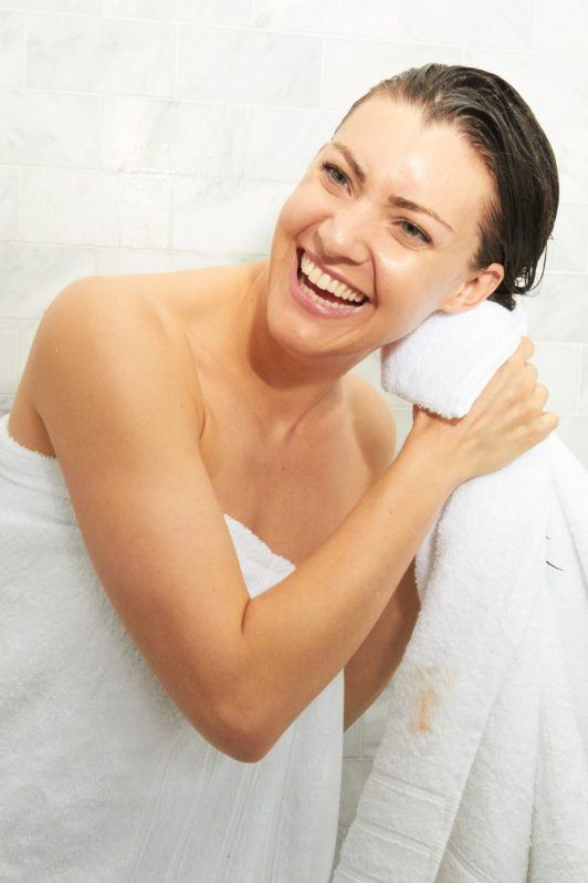 how to wash your hair pat dry