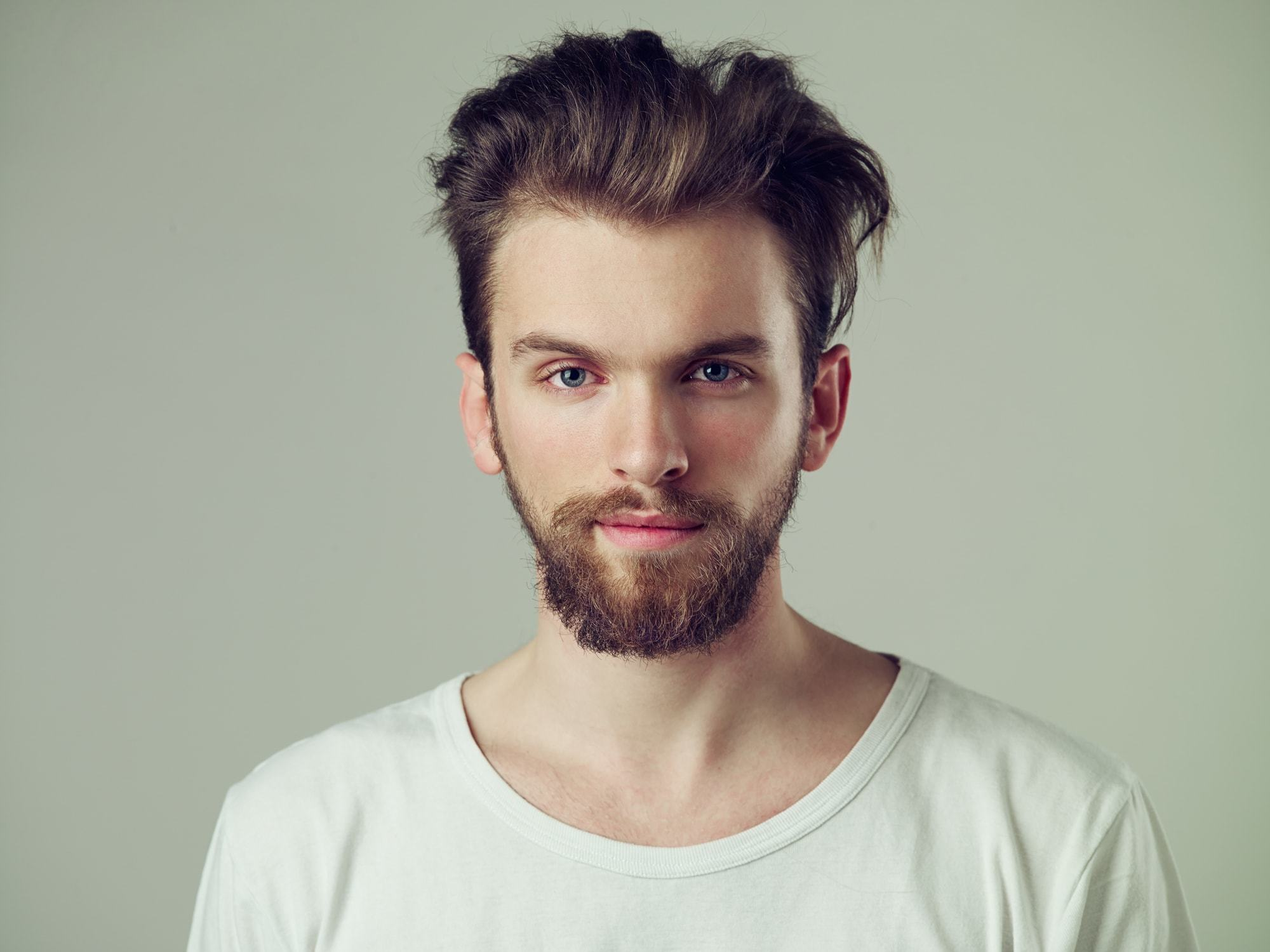 Messy Hairstyles Men Combed Back Volume