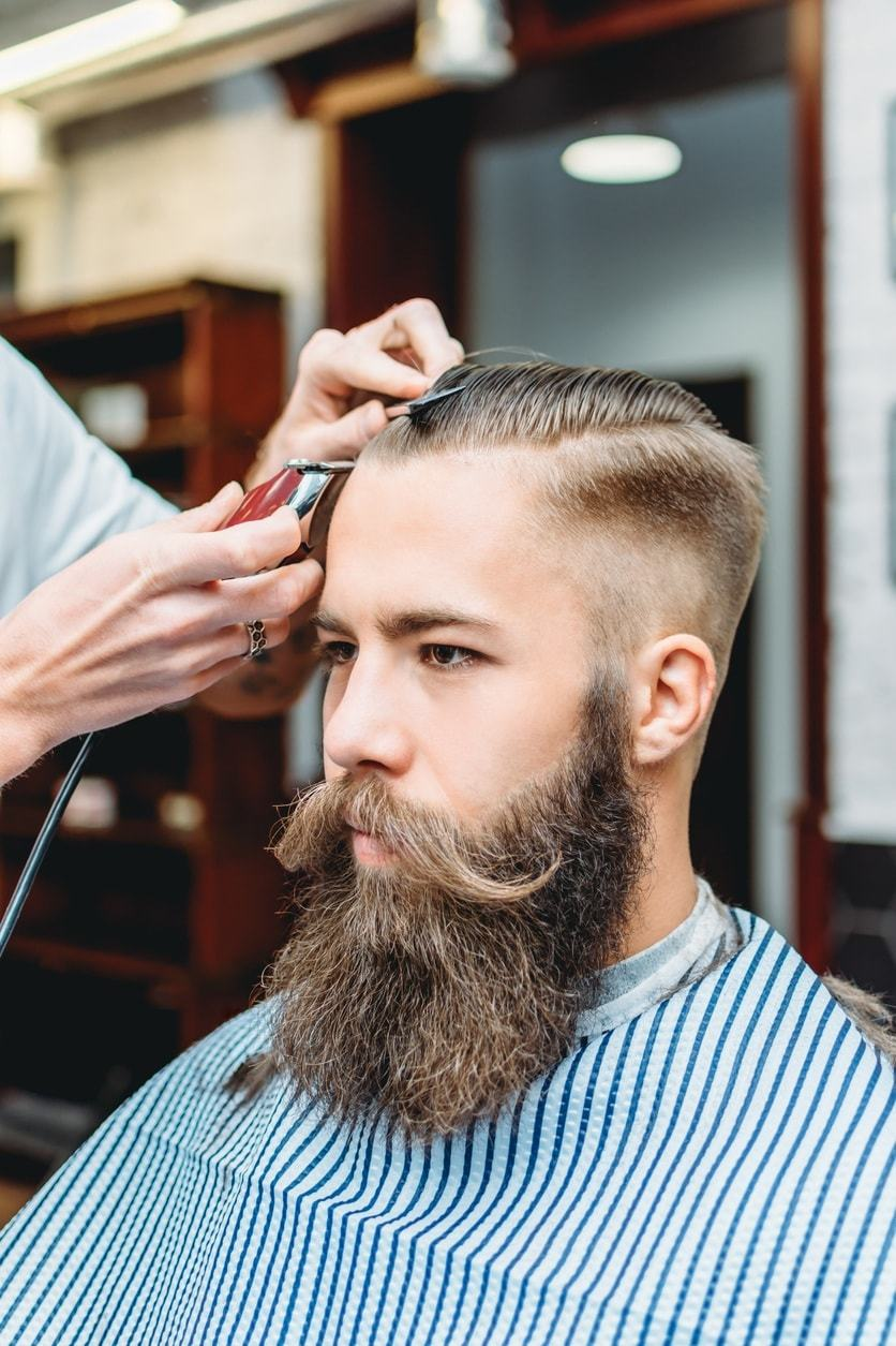 shaved sides hairstyles mens barber fade