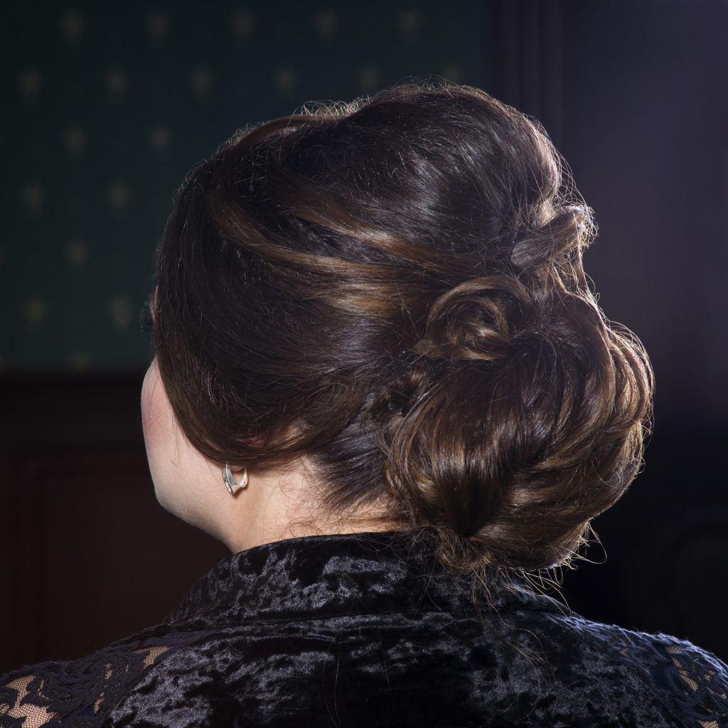 victorian hairstyles teased bun brunette