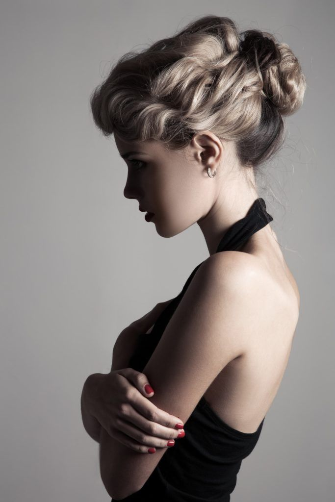 victorian hairstyles twisted curls blonde updo