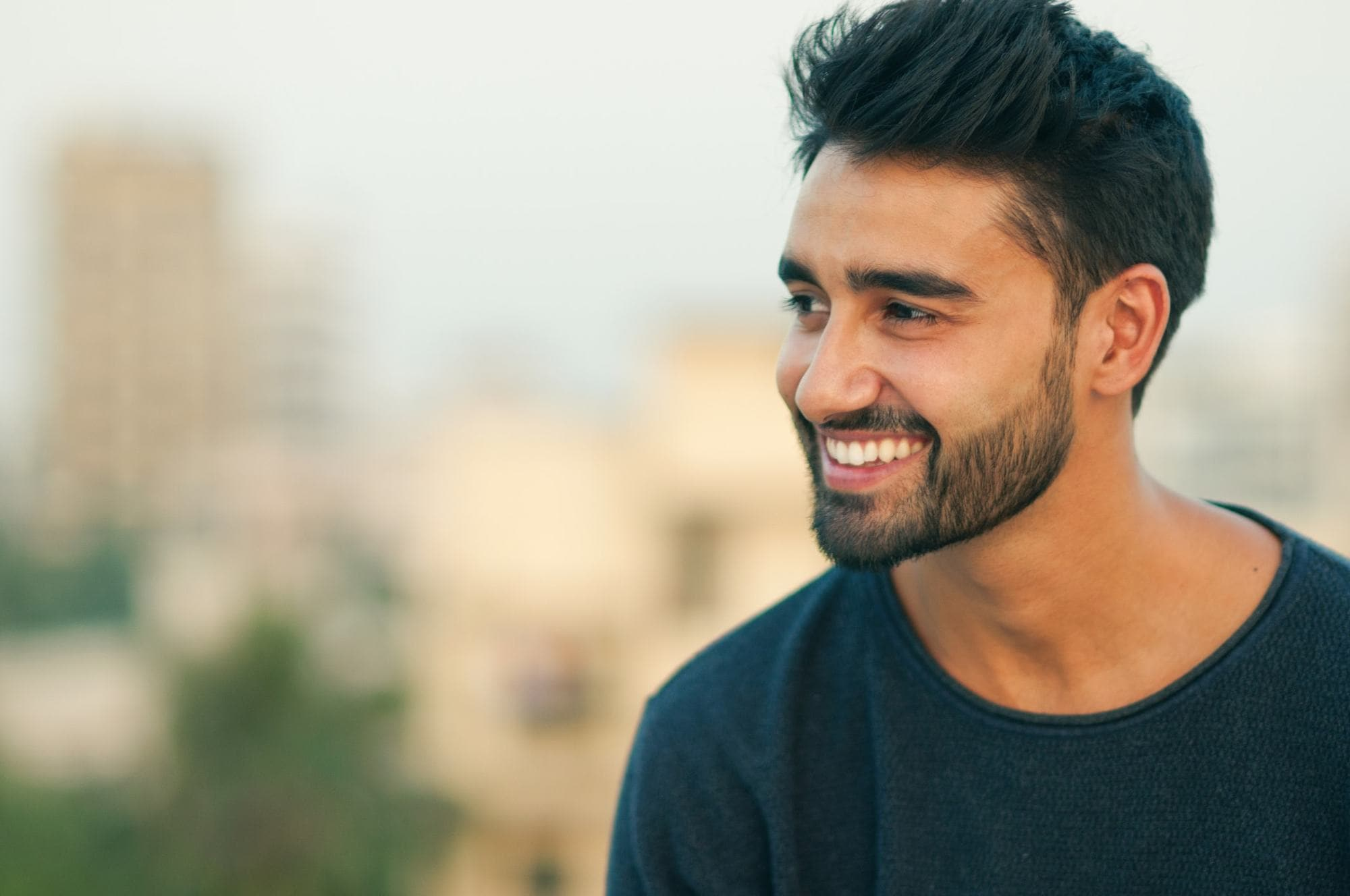 young men haircuts layered fade
