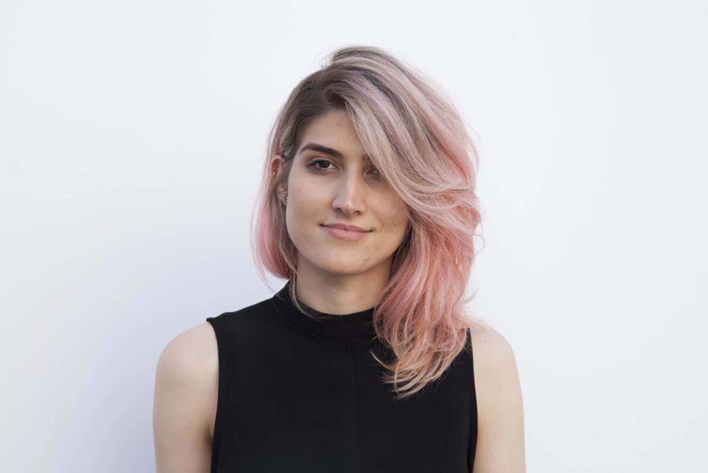 balayage short hair: pink hair