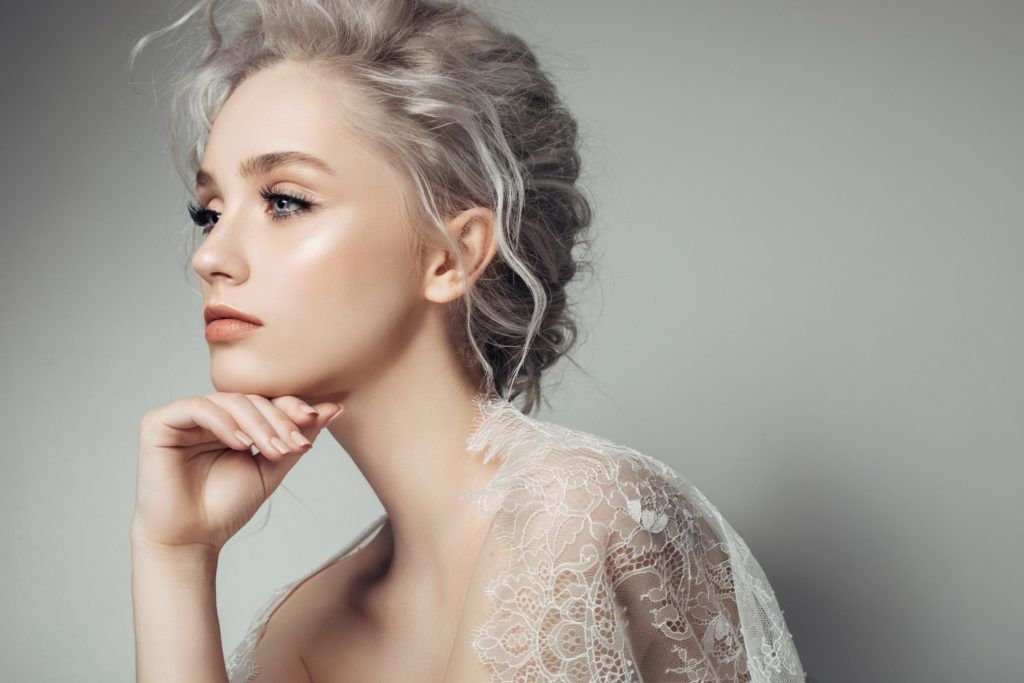 best hairstyle for face shape piece-y updo