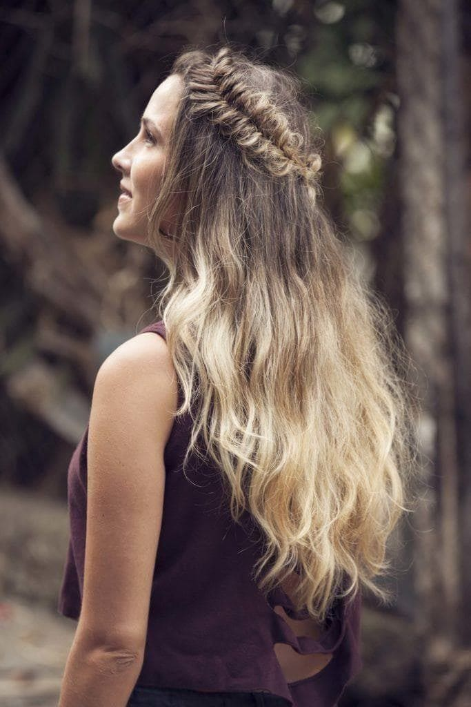 bleached hair ombre