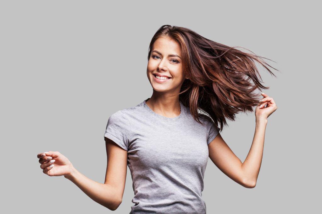 copper highlights: healthy hair