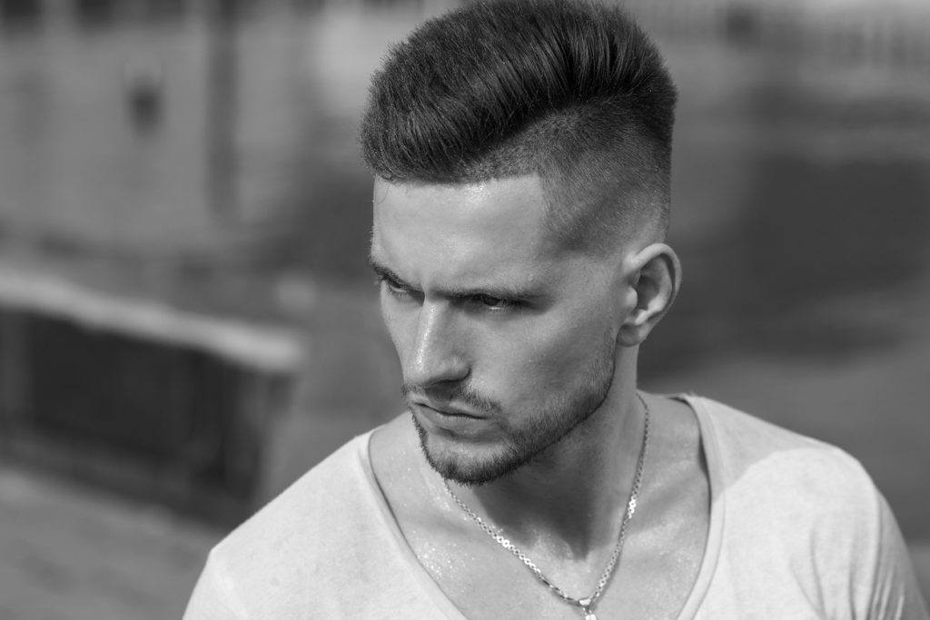 easy hairstyles for guys: low fade undercut
