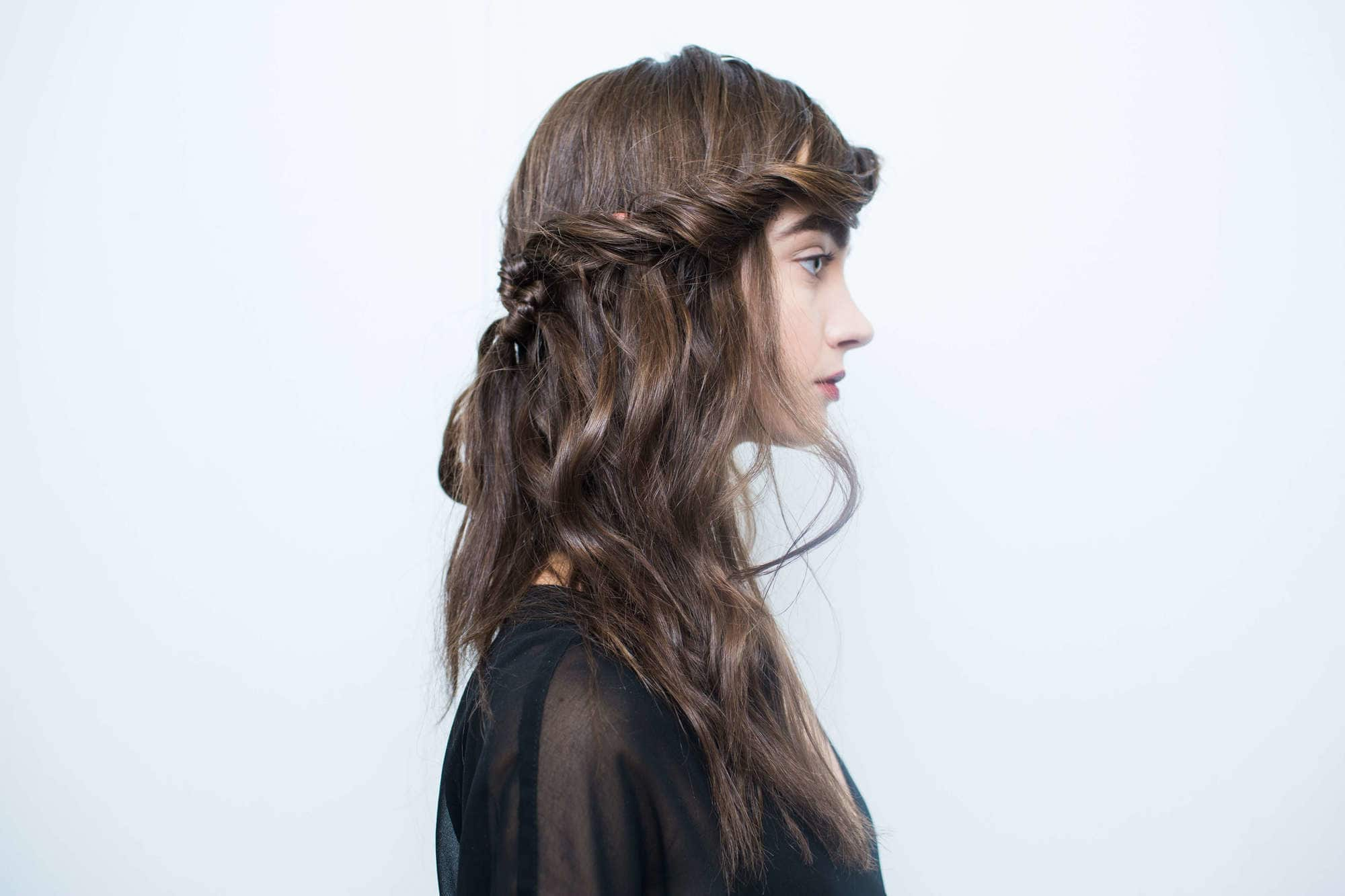 easy styles for curly hair crown twist