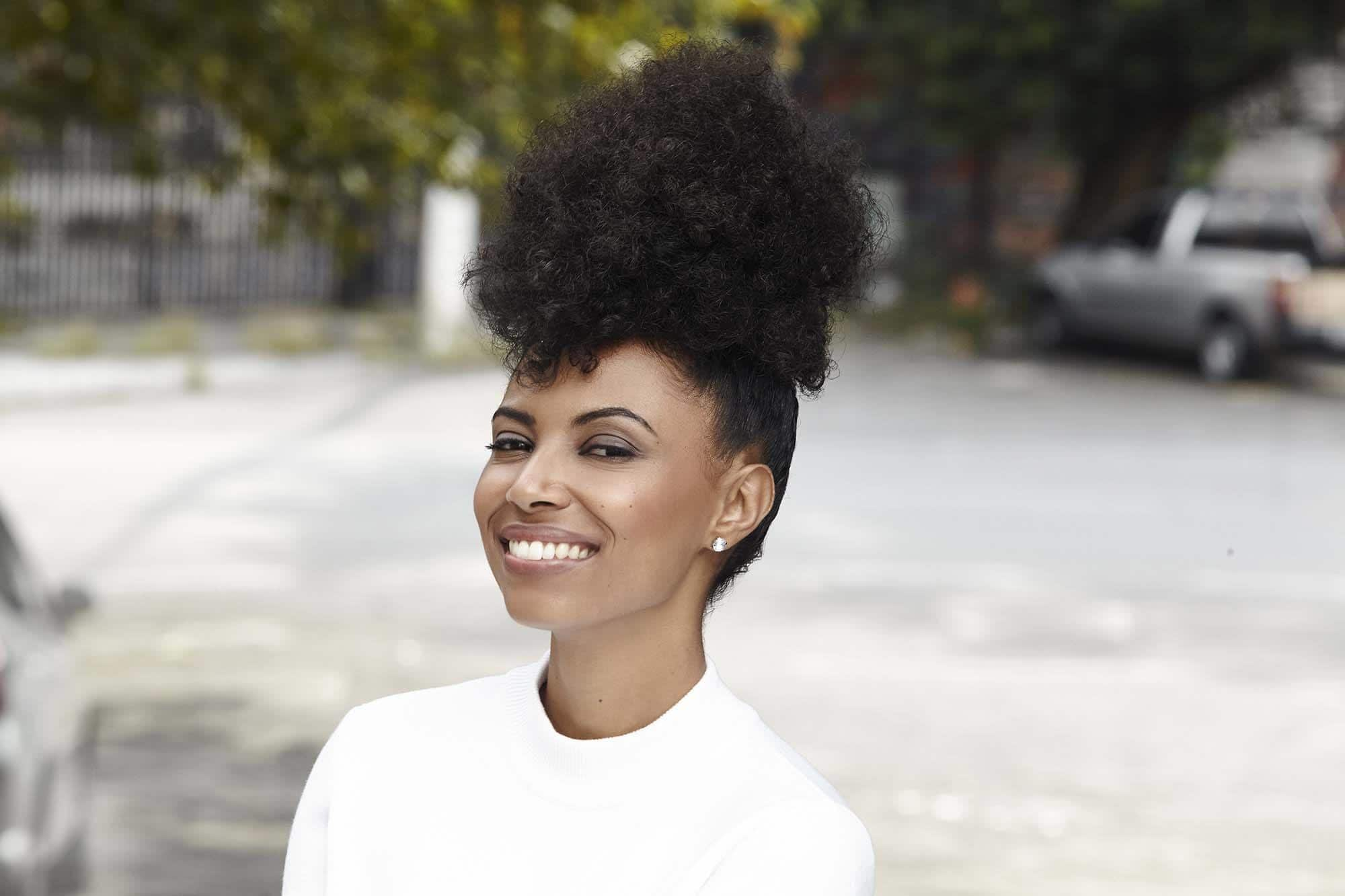 easy styles for curly hair mohawk