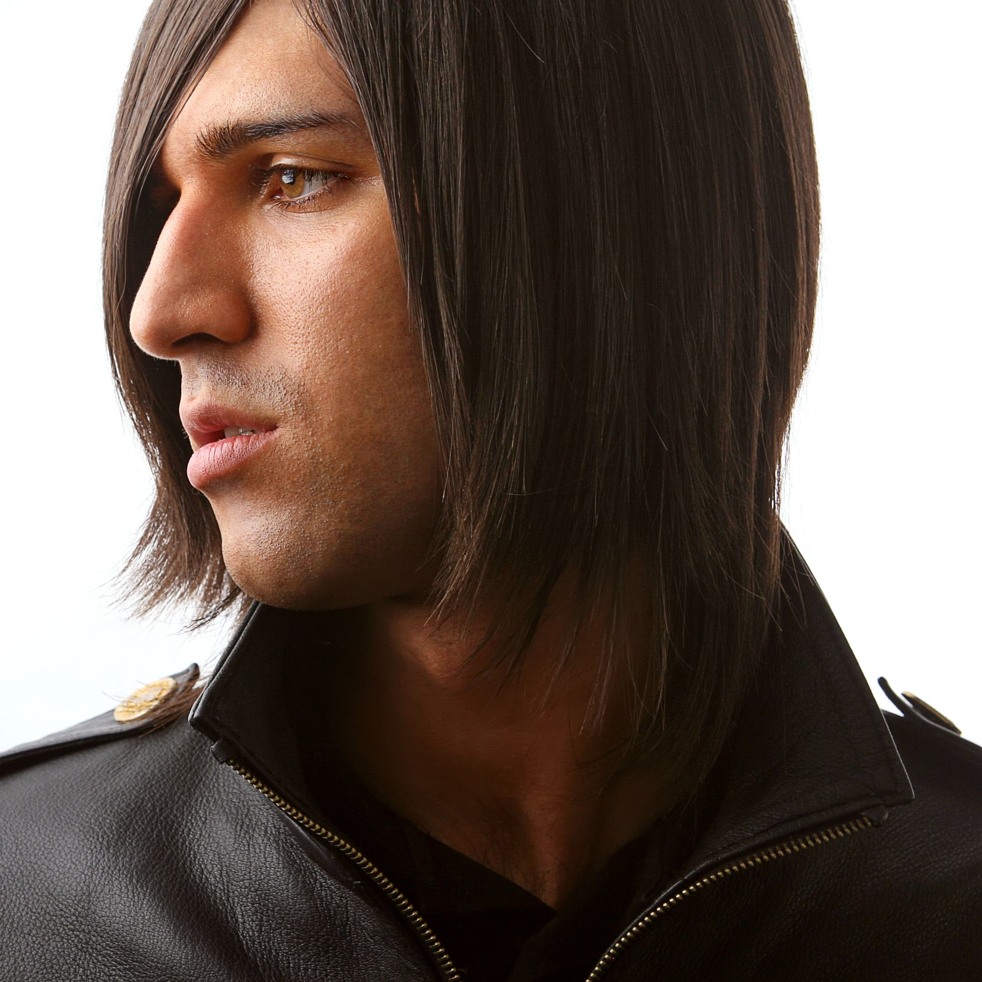 emo hairstyles for guys layered side bangs