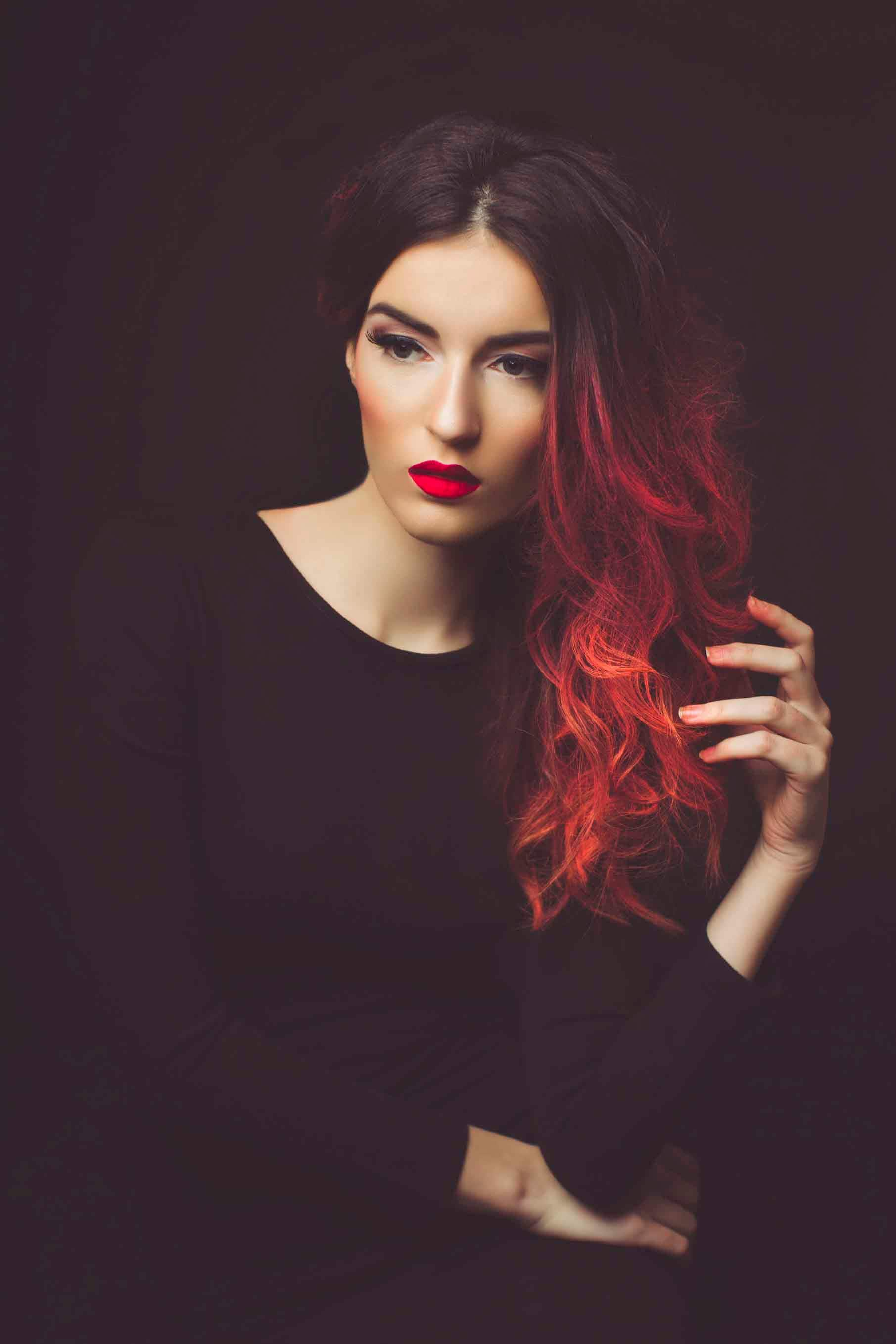 mahogany hair color ombre