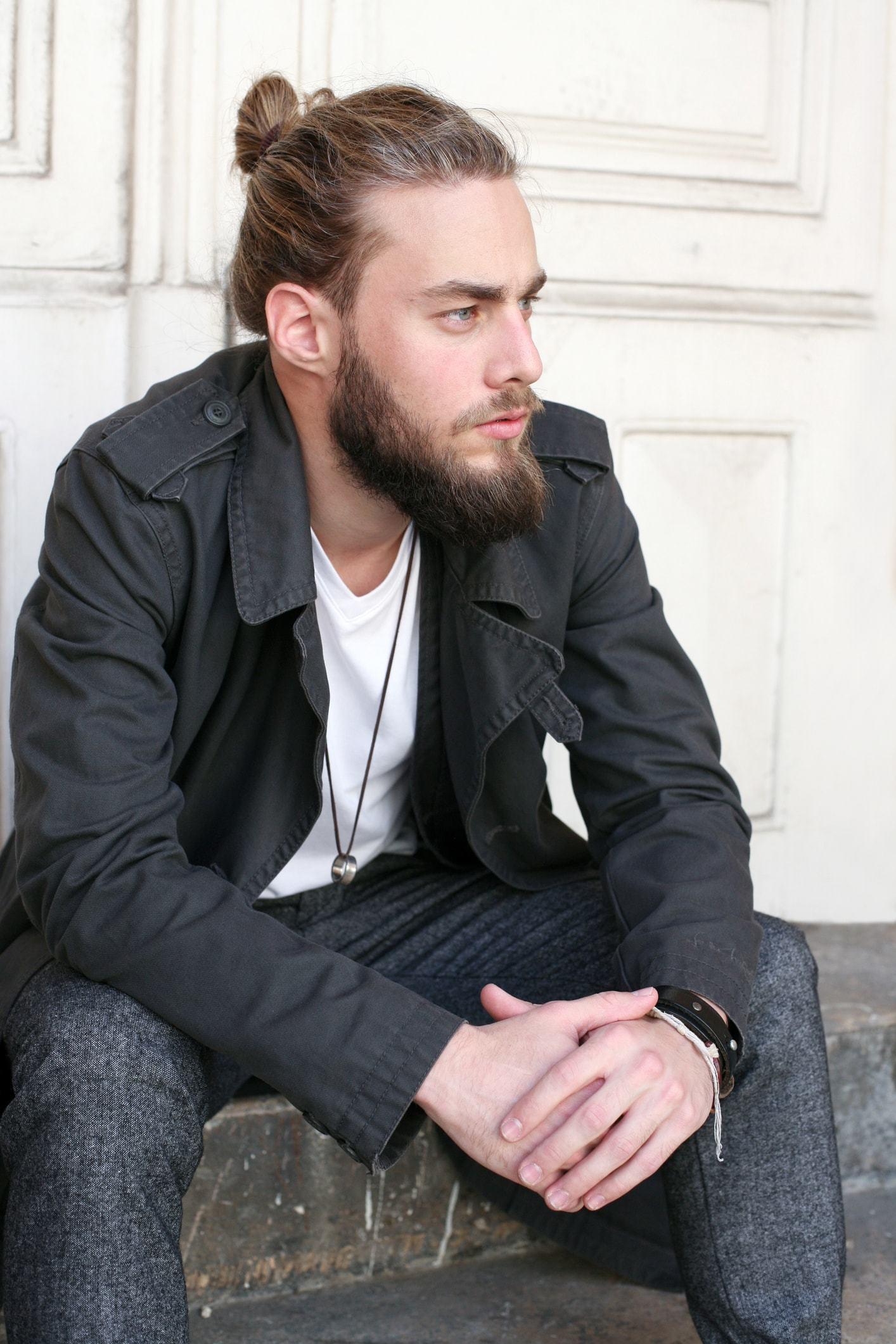 mens hairstyles 2017 man bun beard