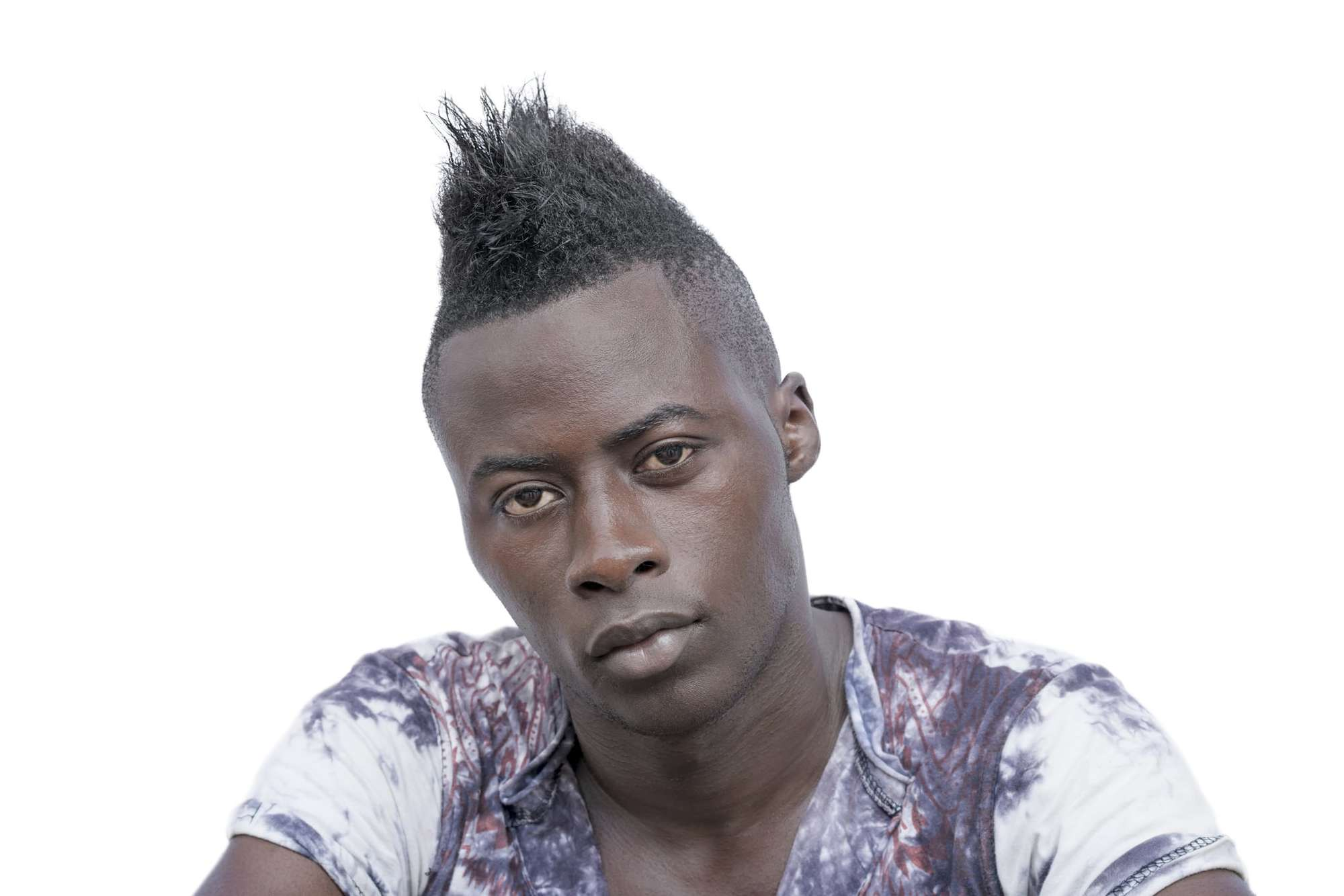 mohawk fade spiked up natural hair