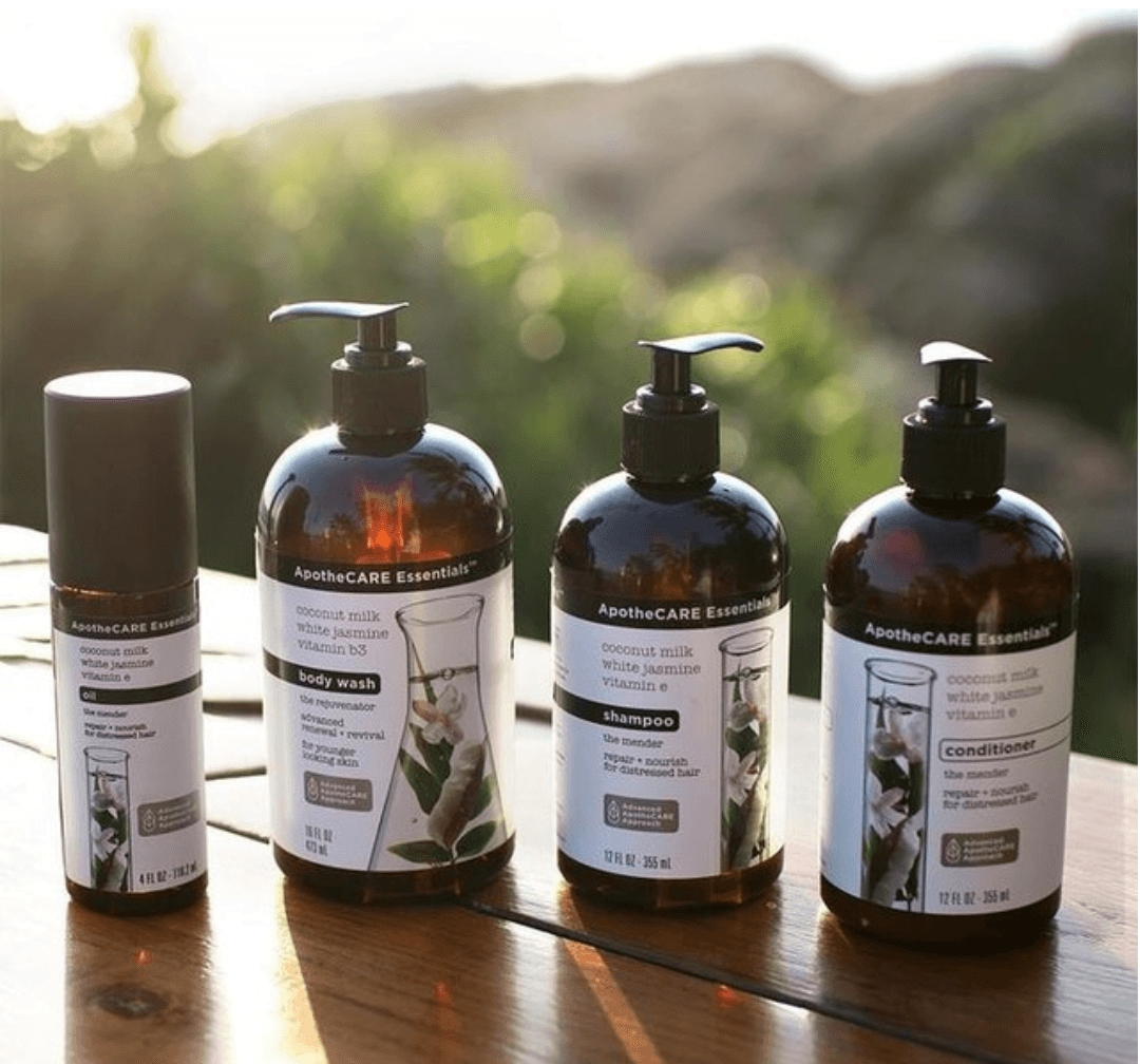 apothecare essentials product lineup