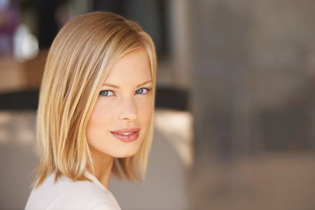 blunt bob side part hairstyles