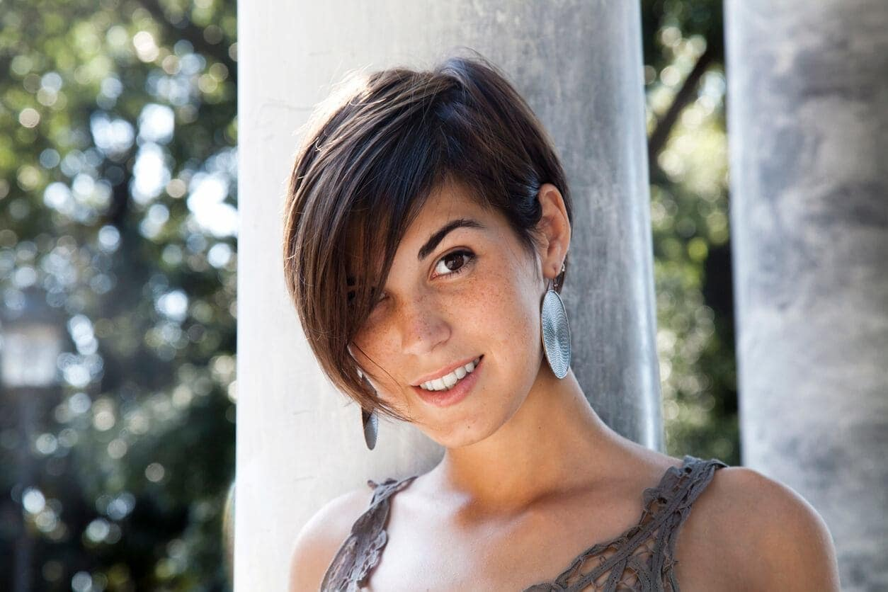 long pixie side part hairstyles