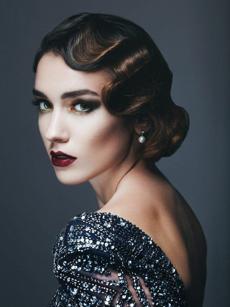 finger waves side part hairstyles