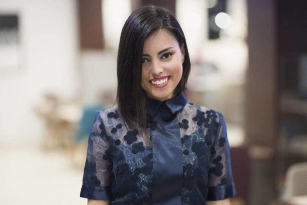 chin-length angled bob side part hairstyles