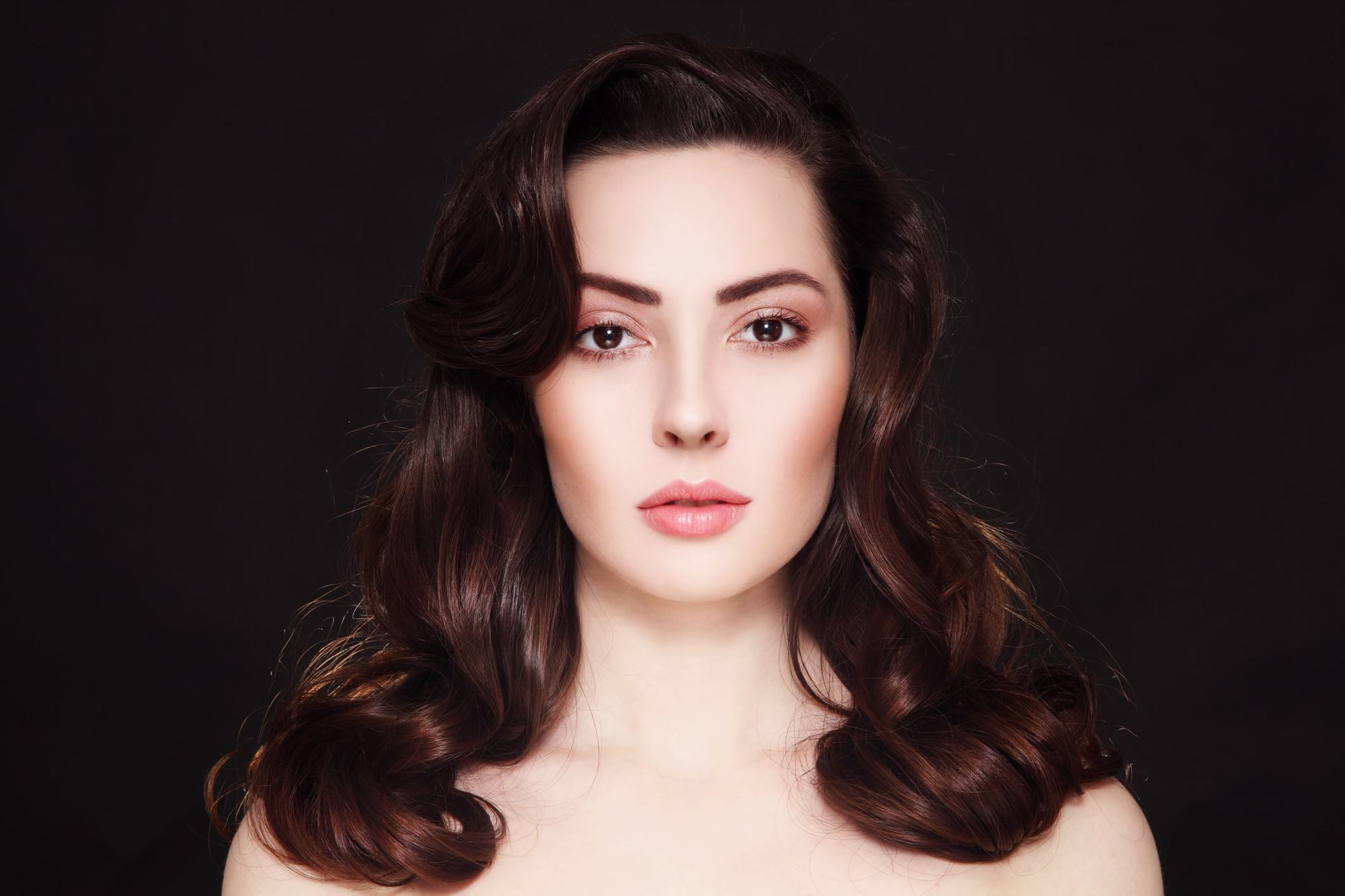 vintage hairstyles for curly hair brunette curls