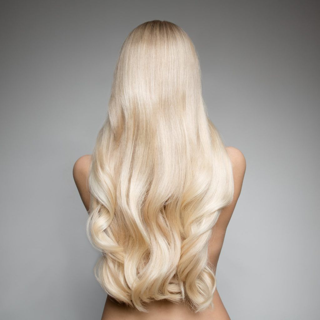 white blonde hair long curls
