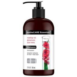 apothecare essentials rosehip oil geranium and aloe vera shampoo